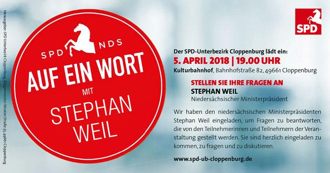 Ministerprasident Stephan Weil Besucht Den Landkreis Cloppenburg