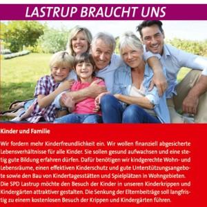 Wahlflyer der SPD für die Gemeinde Lastrup