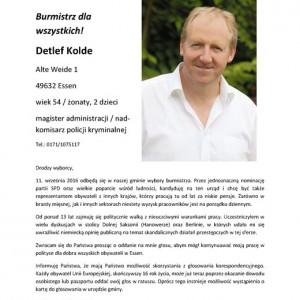 Flyer Detlef Kolde auf Polnisch