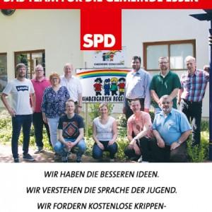 Wahlflyer der SPD für die Gemeinde Essen/Oldb.