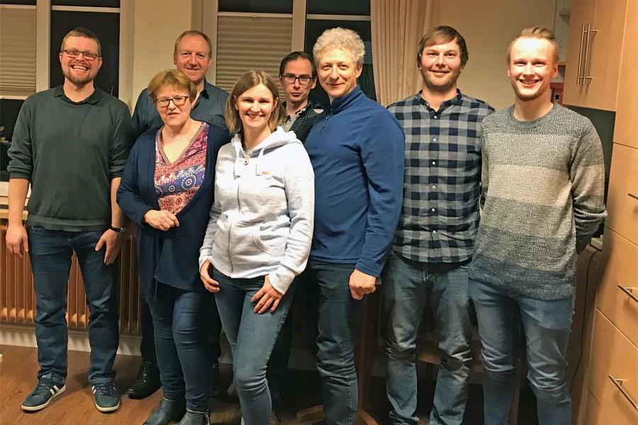 Von links: Oliver Kirchner, Renate Biemann, Detlef Kolde, Dr. Sonja von Berg, Dr. Matthias Siegel, Michael Schneiders, Oliver Winkler und Simon Schneiders