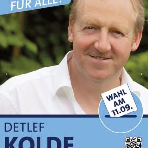 Wahlplakat Bürgermeisterwahl