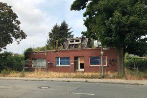 Abgebranntes Wohnhaus