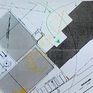 Plan der Zuwegung