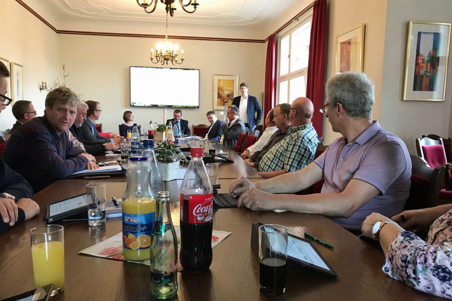 Öffentliche Sitzung im Sitzungssaal des Rathauses in Essen