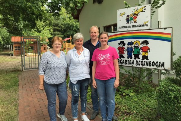 Besuch im Kindergarten Regenbogen