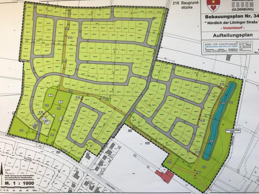 Karte des Baugebiets
