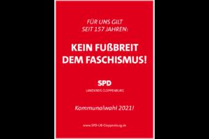 Plakat kein Fußbreit dem Faschimus