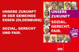 SPD Plakt zur Kommunalwahl